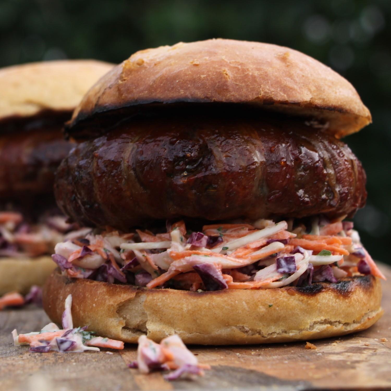 Moink Burgers met homemade Coleslaw van BBQ Junkie