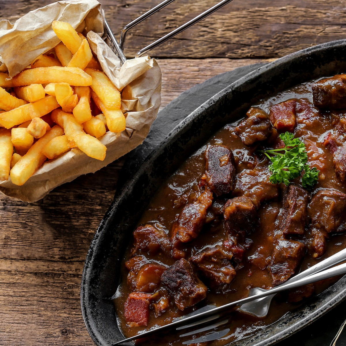 Patatje Stoofvlees Butchery Style